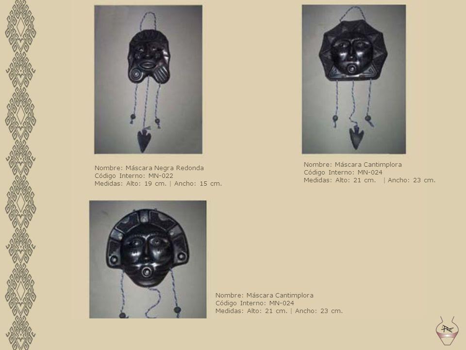 Nombre: Máscara Negra Redonda Código Interno: MN-022 Medidas: Alto: 19 cm. | Ancho: 15 cm. Nombre: Máscara Cantimplora Código Interno: MN-024 Medidas: