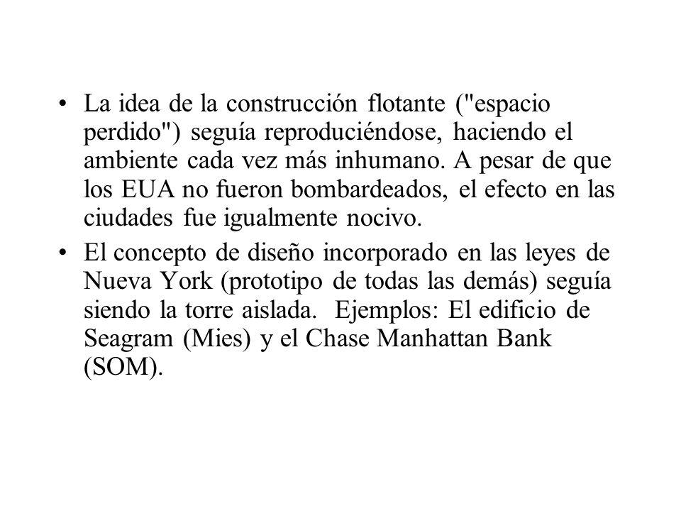La idea de la construcción flotante (