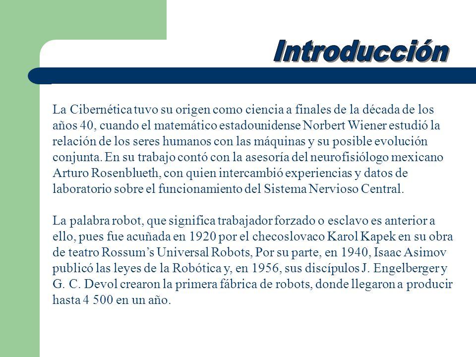 La Cibernética tuvo su origen como ciencia a finales de la década de los años 40, cuando el matemático estadounidense Norbert Wiener estudió la relaci