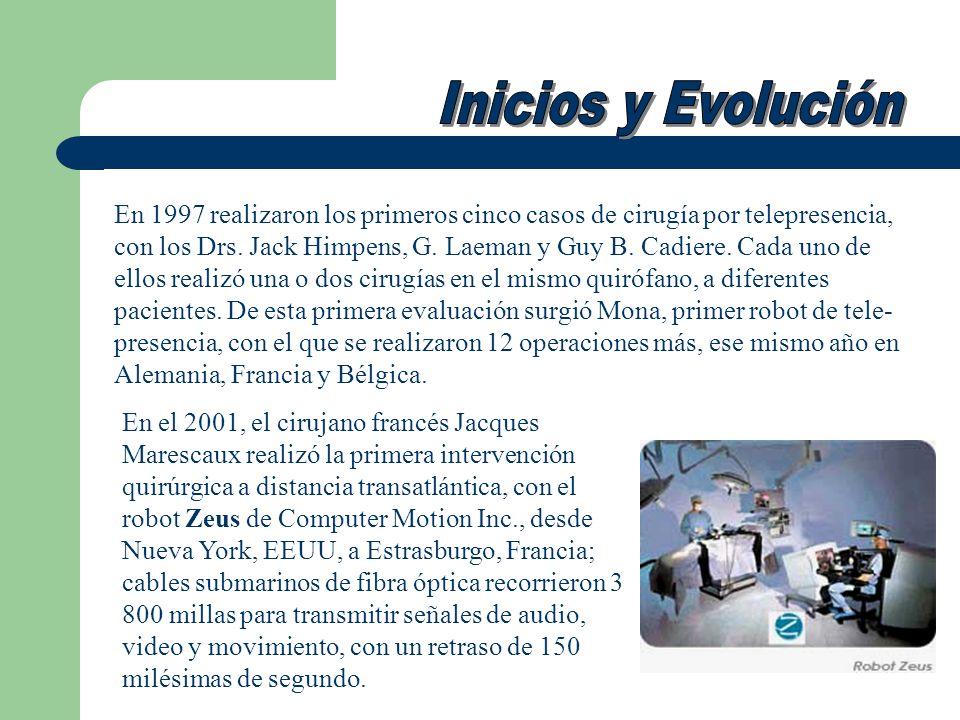 En 1997 realizaron los primeros cinco casos de cirugía por telepresencia, con los Drs. Jack Himpens, G. Laeman y Guy B. Cadiere. Cada uno de ellos rea