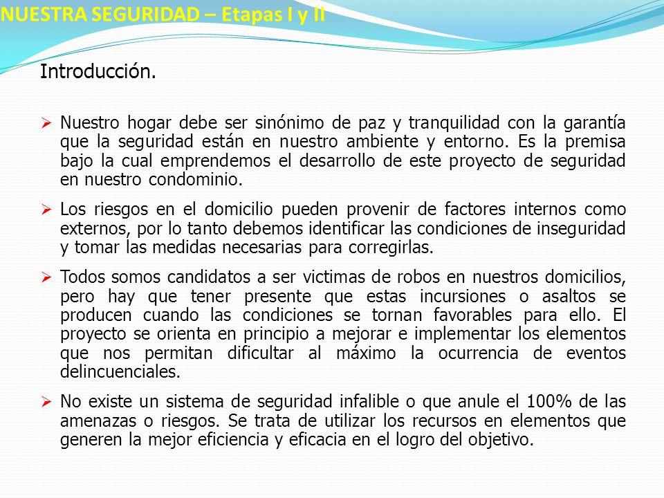 NUESTRA SEGURIDAD – Etapas I y II Introducción.