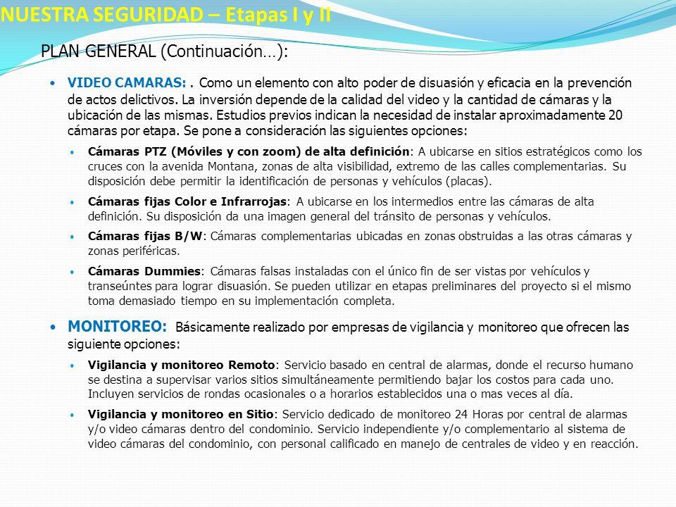 PLAN GENERAL (Continuación…): PORTERÍA ÚNICA: Construcción de una portería principal con sistemas de control de acceso electrónico para vehículos y peatones.