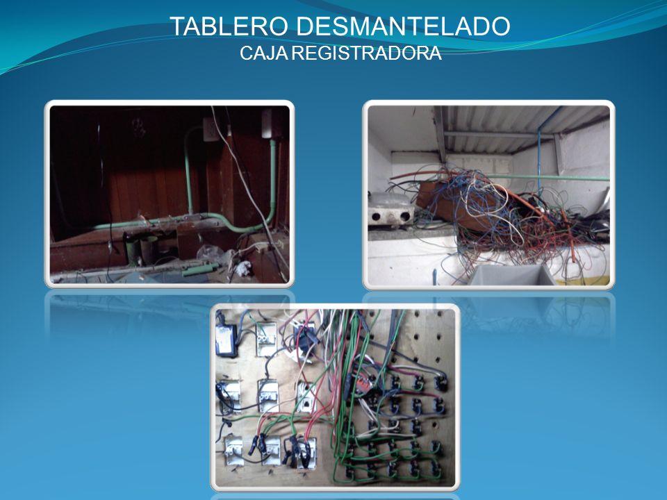 TABLERO DESMANTELADO CAJA REGISTRADORA