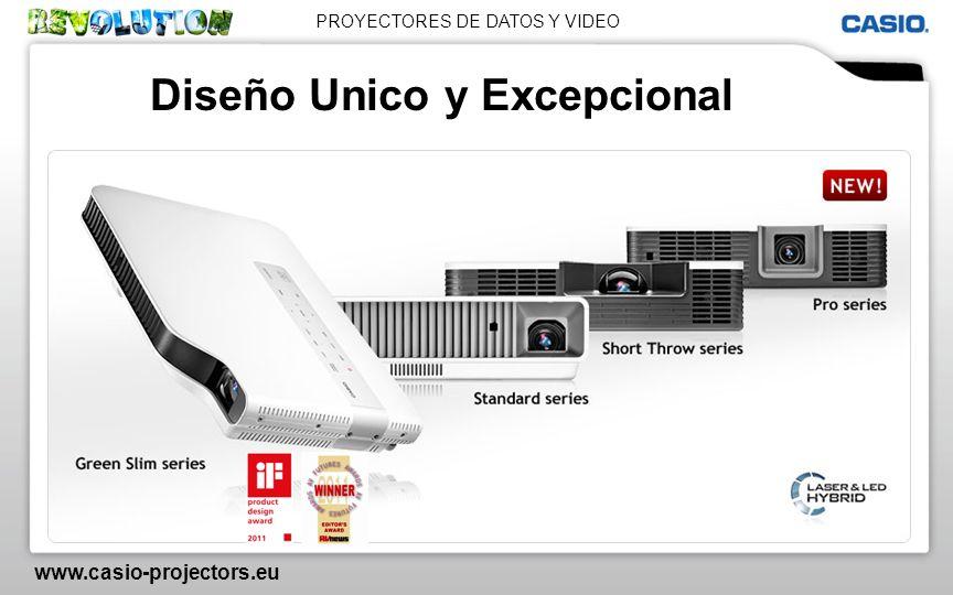 PROYECTORES DE DATOS Y VIDEO www.casio-projectors.eu Diseño Unico y Excepcional