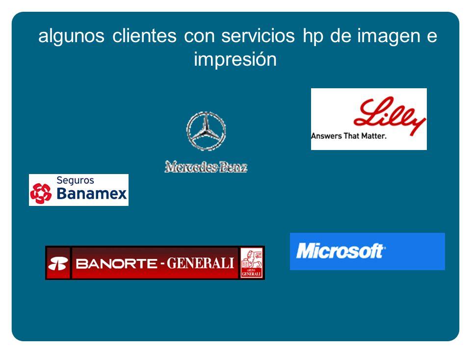 algunos clientes con servicios hp de imagen e impresión
