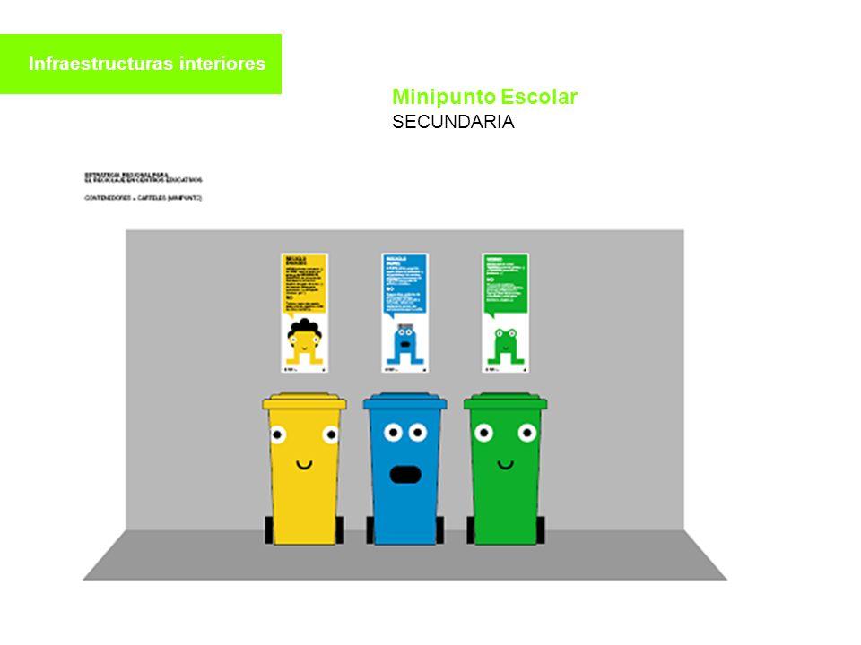 Infraestructuras interiores Minipunto Escolar SECUNDARIA