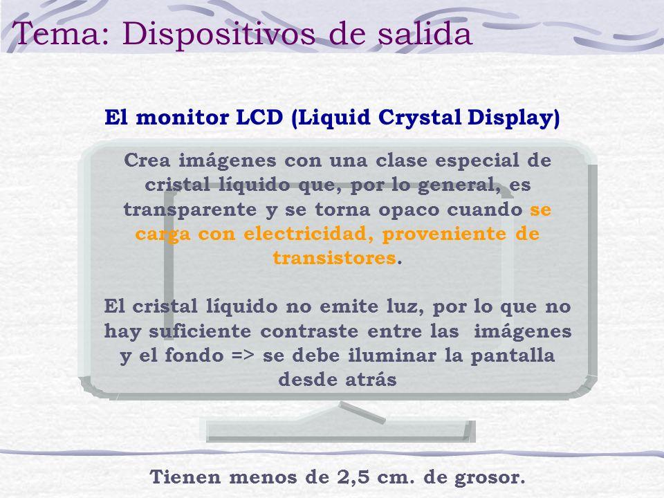 Crea imágenes con una clase especial de cristal líquido que, por lo general, es transparente y se torna opaco cuando se carga con electricidad, proven