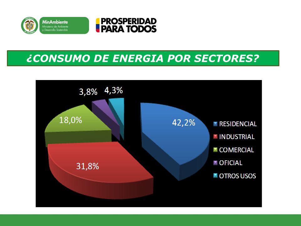 ¿CONSUMO DE ENERGIA POR SECTORES?
