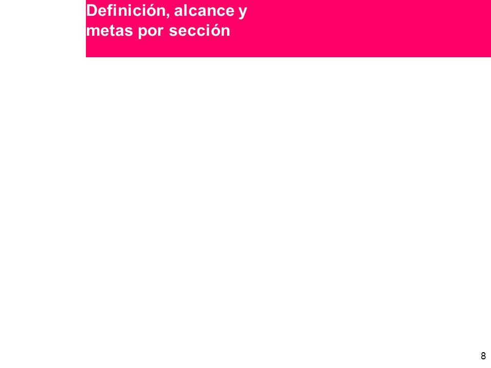 8 8 Definición, alcance y metas por sección