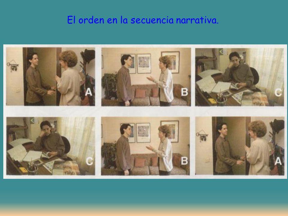 El orden en la secuencia narrativa.