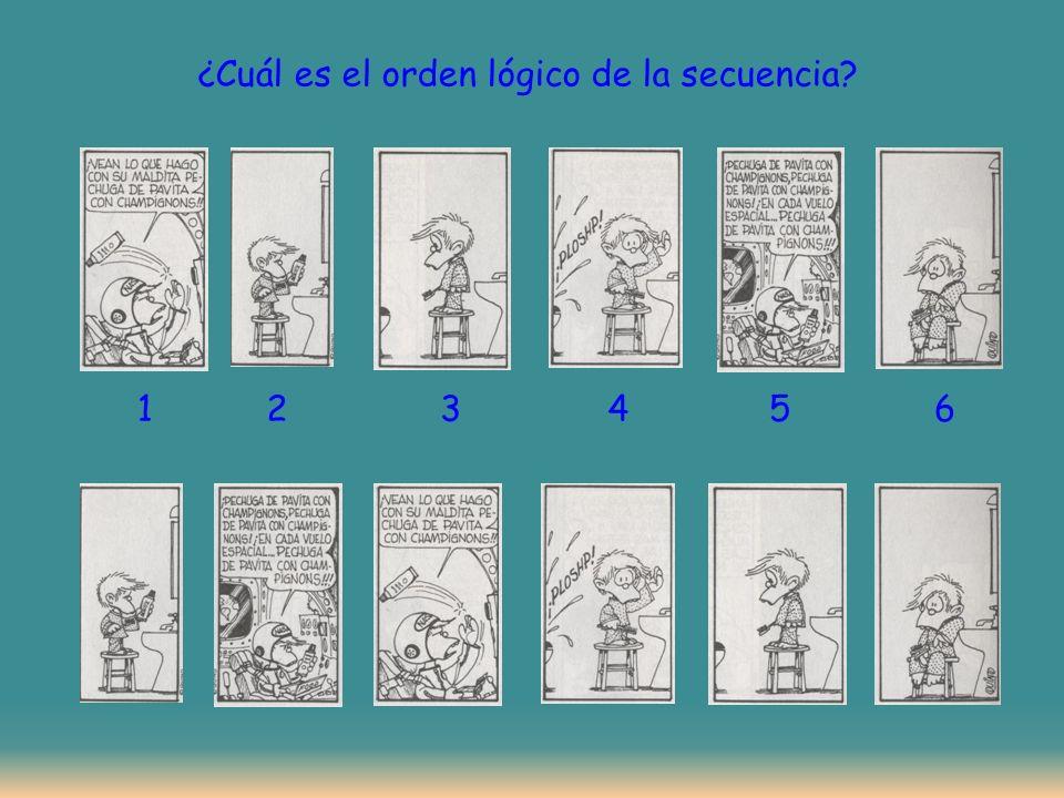 ¿Cuál es el orden lógico de la secuencia? 123456