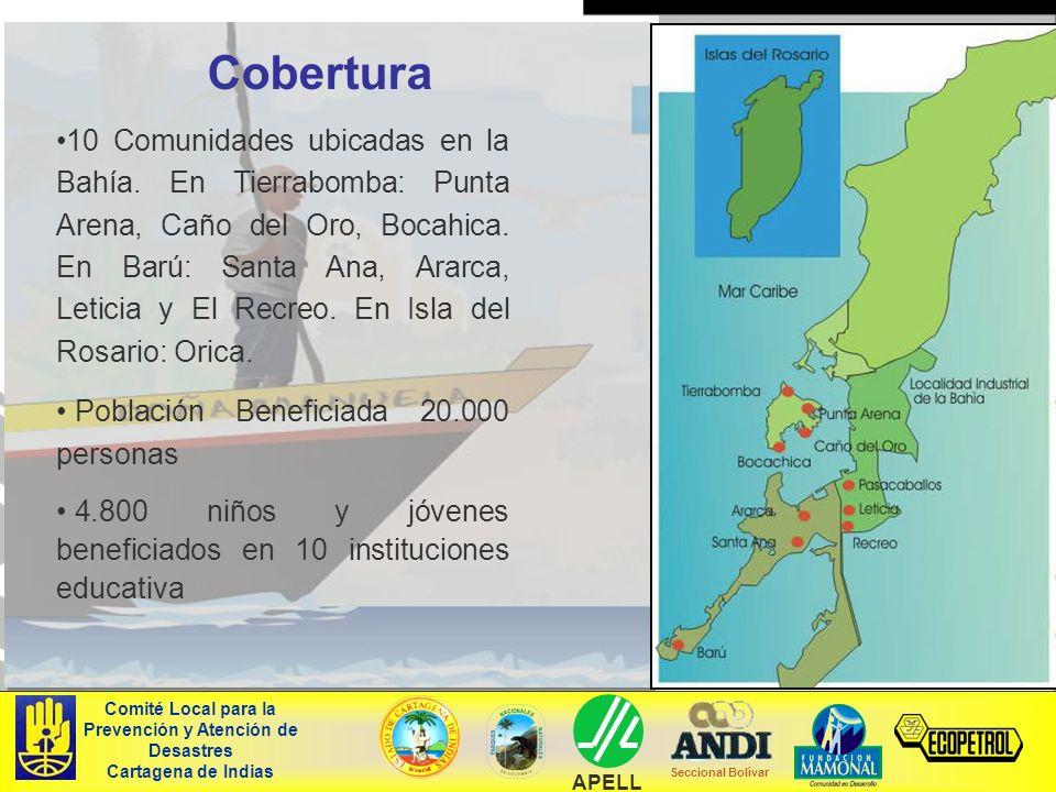 10 Comunidades ubicadas en la Bahía. En Tierrabomba: Punta Arena, Caño del Oro, Bocahica. En Barú: Santa Ana, Ararca, Leticia y El Recreo. En Isla del