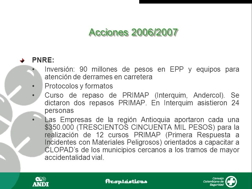 Sistema de Gestión de RI Empresas participantes 2006: Quintal S.A.