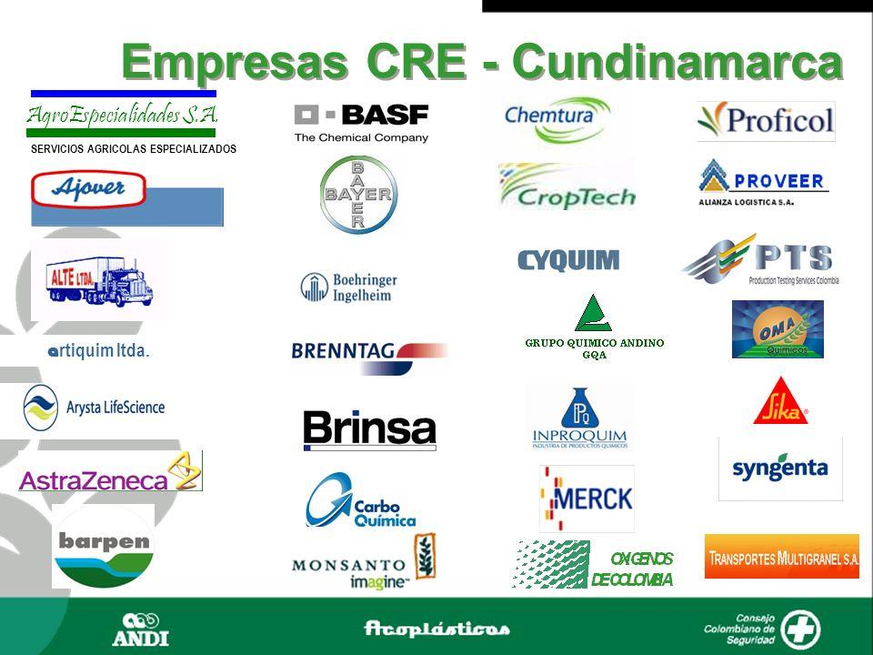 a rtiquim ltda. AgroEspecialidades S.A. SERVICIOS AGRICOLAS ESPECIALIZADOS Empresas CRE - Cundinamarca