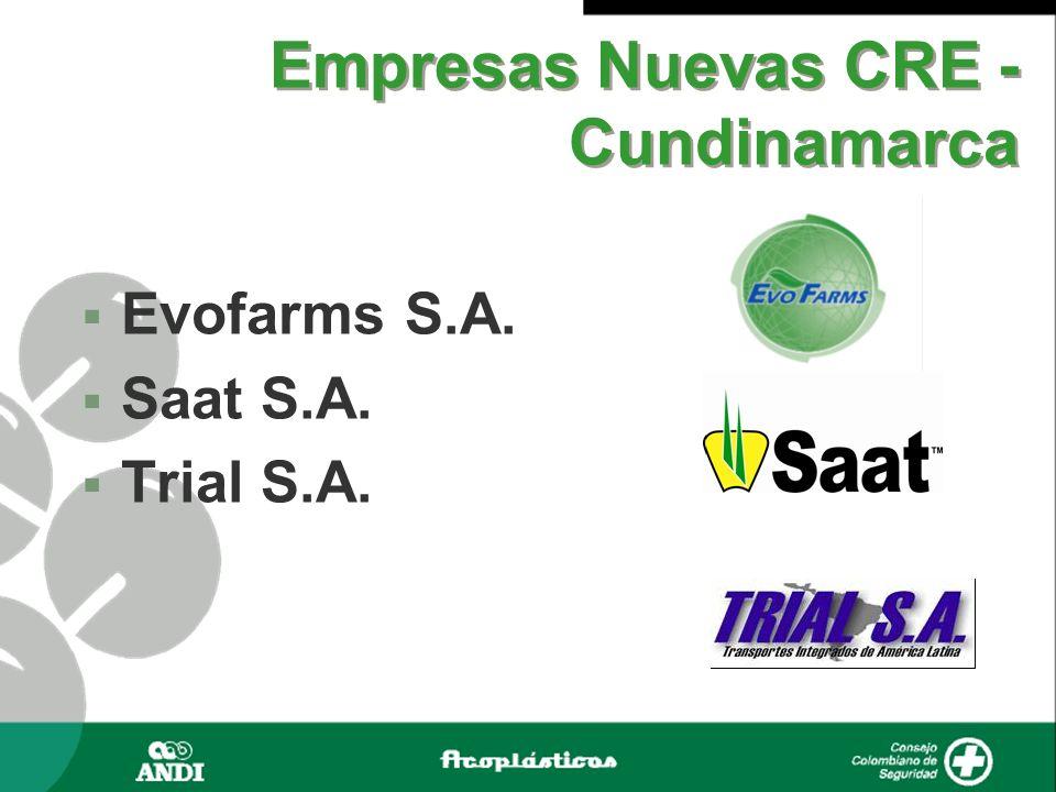 Empresas Nuevas CRE - Cundinamarca Evofarms S.A. Saat S.A. Trial S.A.