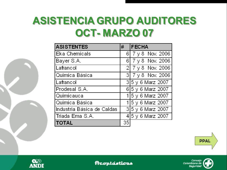 ASISTENCIA GRUPO AUDITORES OCT- MARZO 07 PPAL