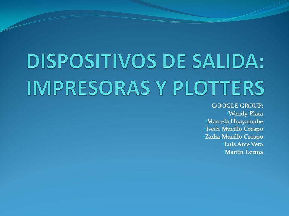 GOOGLE GROUP: Wendy Plata Marcela Huayamabe Iveth Murillo Crespo Zadia Murillo Crespo Luis Arce Vera Martin Lerma