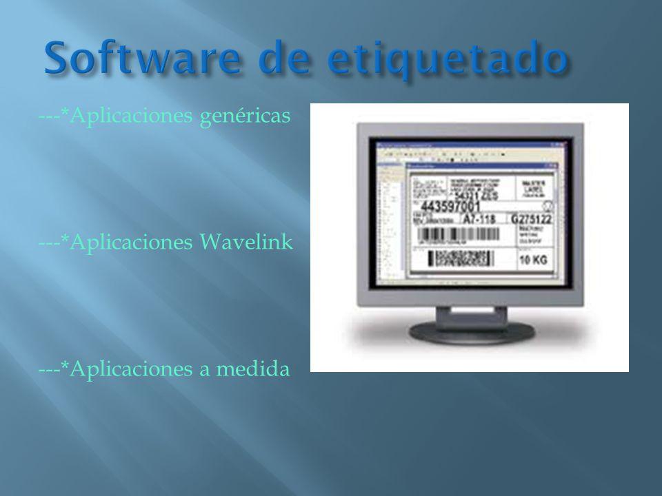 ---*Aplicaciones genéricas ---*Aplicaciones Wavelink ---*Aplicaciones a medida
