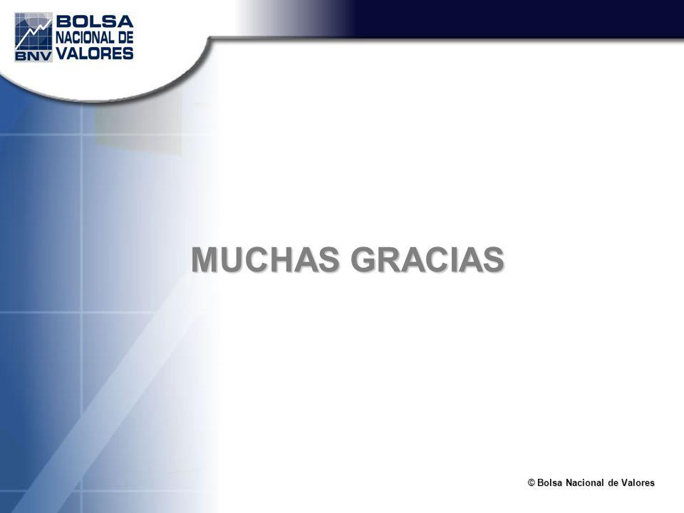© Bolsa Nacional de Valores MUCHAS GRACIAS