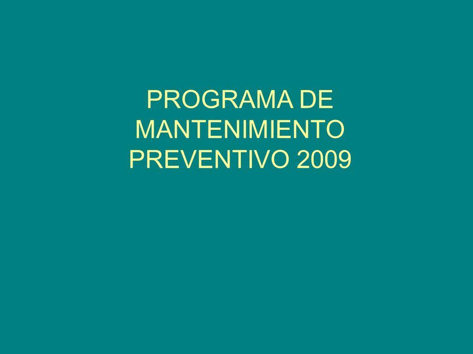 PROGRAMA DE MANTENIMIENTO PREVENTIVO 2009