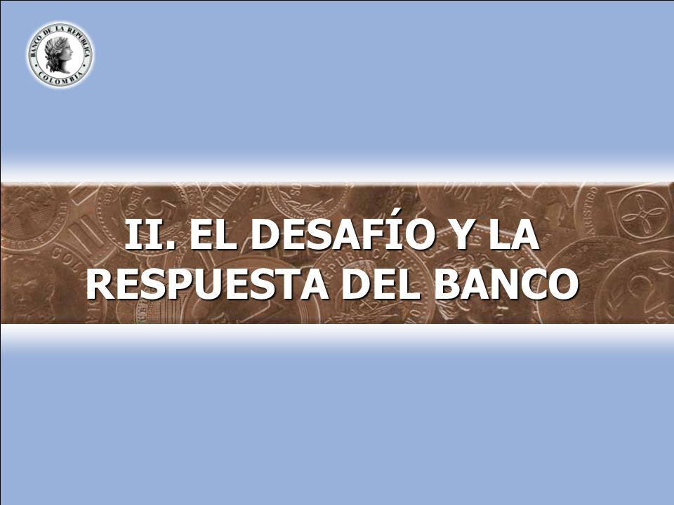 II. EL DESAFÍO Y LA RESPUESTA DEL BANCO