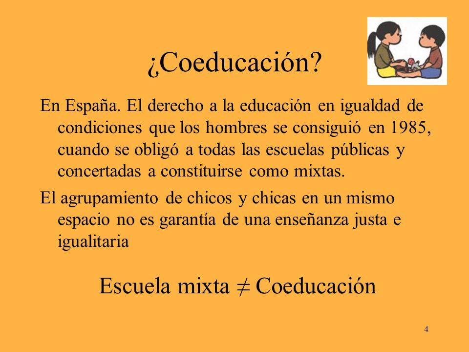 ¿Coeducación. En España.