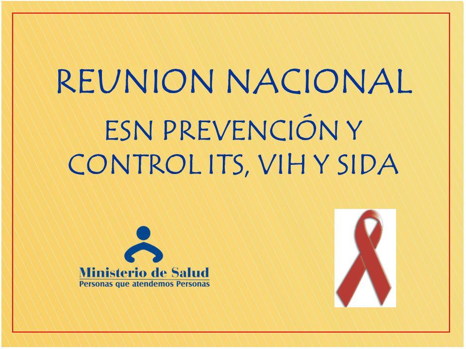 Objetivo General Fortalecer a las áreas de intervención y de Gestión de la ESN de PC de las ITS, VIH y SIDA a nivel Nacional.