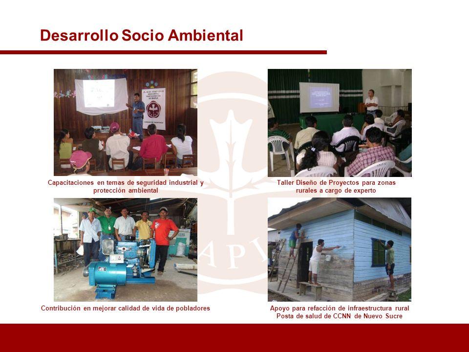 Taller Diseño de Proyectos para zonas rurales a cargo de experto Desarrollo Socio Ambiental Capacitaciones en temas de seguridad industrial y protecci