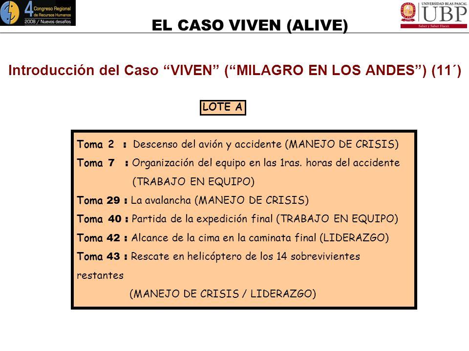 EL CASO VIVEN (ALIVE) Introducción del Caso VIVEN (MILAGRO EN LOS ANDES) Al poco tiempo del rescate de los 16 sobrevivientes, Piers Paul Read, autor e