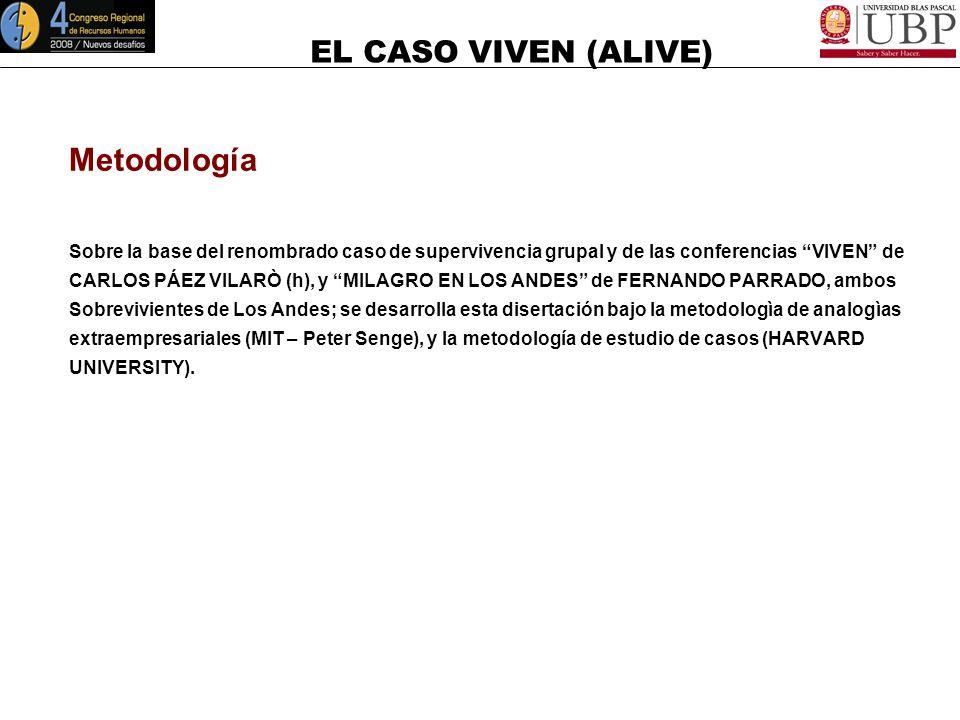 EL CASO VIVEN (ALIVE) VIVEN R ( Manejo de Crisis, Liderazgo y Trabajo en Equipo ) CASO (Conferencia)