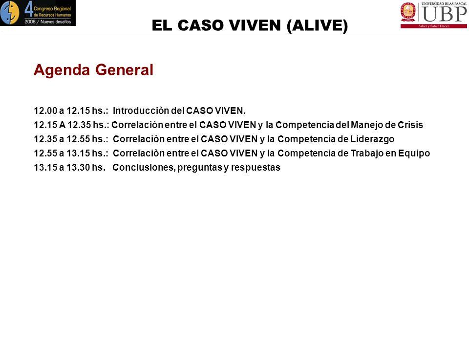 EL CASO VIVEN (ALIVE) Objetivo General Desarrollar sobre la base del CASO VIVEN y de las conferencias VIVEN de CARLOS PÁEZ VILARÒ (h), y MILAGRO EN LO