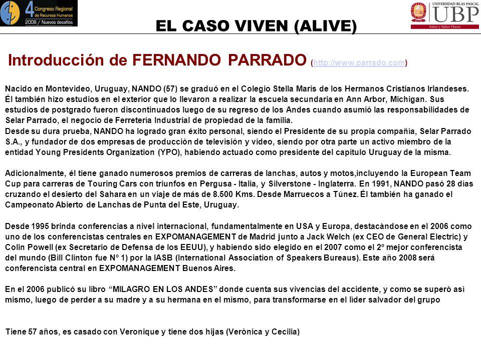 EL CASO VIVEN (ALIVE) Agenda General 12.00 a 12.15 hs.: Introducciòn del CASO VIVEN. 12.15 A 12.35 hs.: Correlaciòn entre el CASO VIVEN y la Competenc