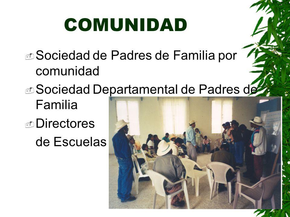 AUTORIDADES EDUCATIVAS Dirección Departamental »Apoyo para el establecimiento de los centros »Apoyo en el equipamiento de los grupos »Nombramiento de