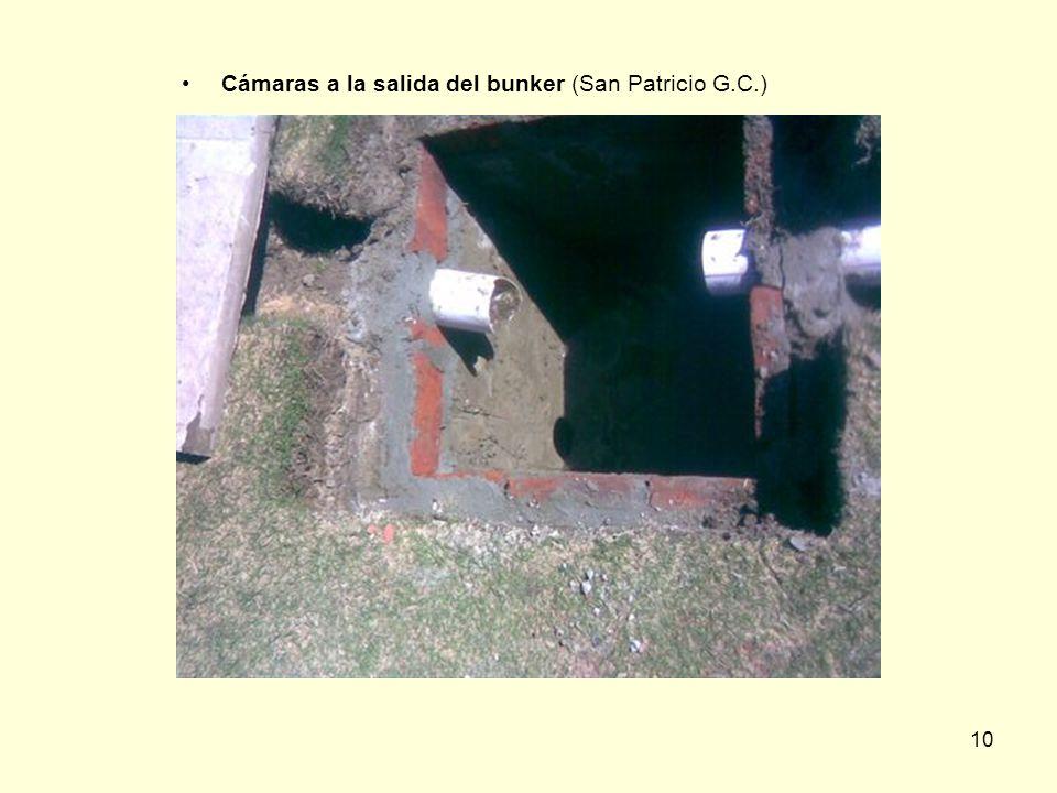 10 Cámaras a la salida del bunker (San Patricio G.C.)