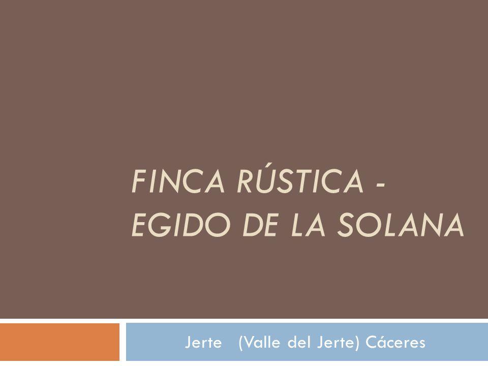 SITUACION La finca está situada en el término municipal de Jerte (Valle del Jerte) Cáceres.