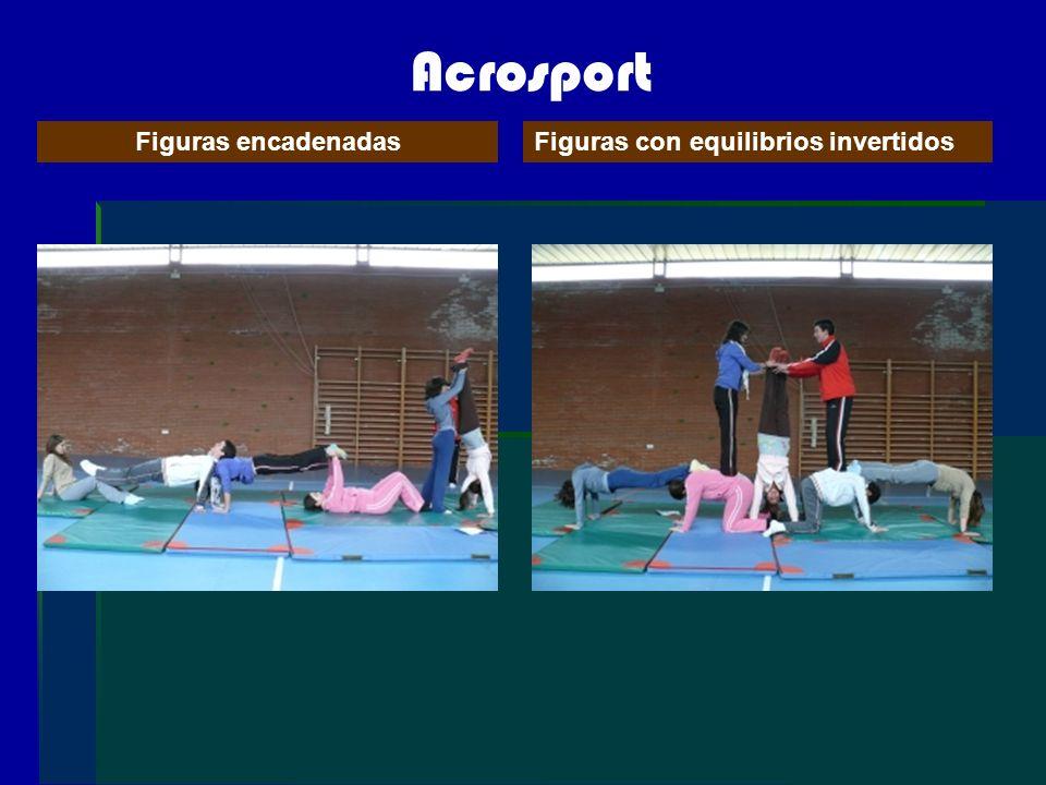 Acrosport Figuras encadenadasFiguras con equilibrios invertidos