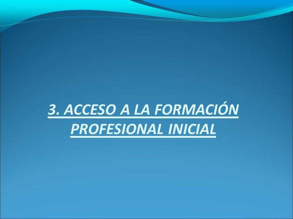 3. ACCESO A LA FORMACIÓN PROFESIONAL INICIAL