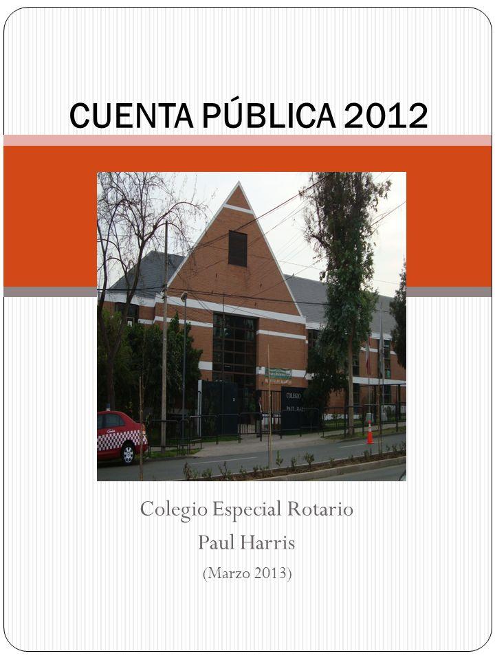 Colegio Especial Rotario Paul Harris (Marzo 2013) CUENTA PÚBLICA 2012