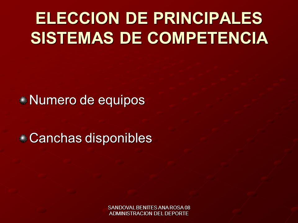 TOMAR EN CUENTA Número de equipos participantes Fecha y duración de la competencia Condiciones de realización de la competencia, canchas balones, rede