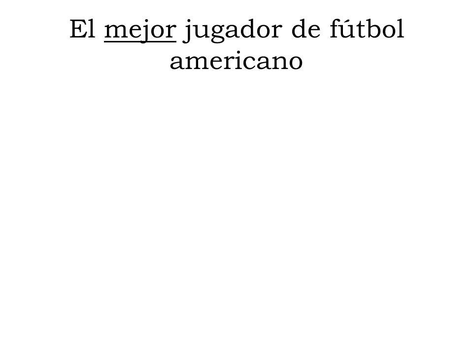 El mejor jugador de fútbol americano