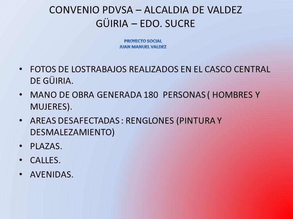FOTOS DE LOSTRABAJOS REALIZADOS EN EL CASCO CENTRAL DE GÜIRIA.