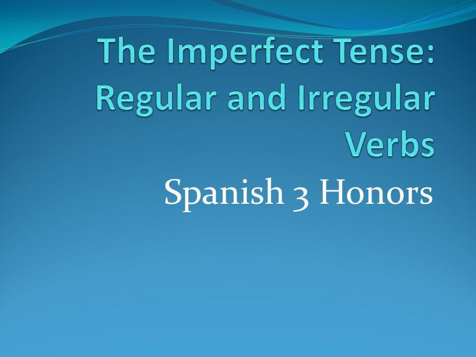 Spanish 3 Honors
