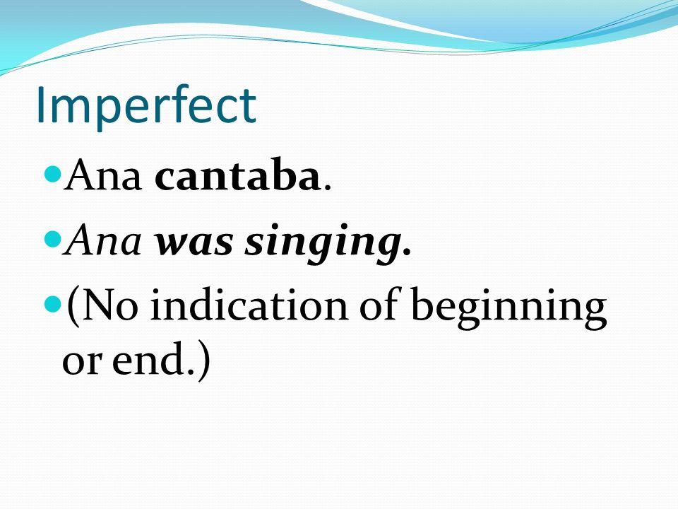 -er and –ir endings for the imperfect Yo-ía Tú-ías Él, Ella, Ud.-ía Nosotros-íamos Ellos, Ellas, Uds.-ían