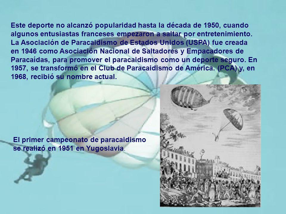 - Doble paracaídas: uno principal y uno de reserva.