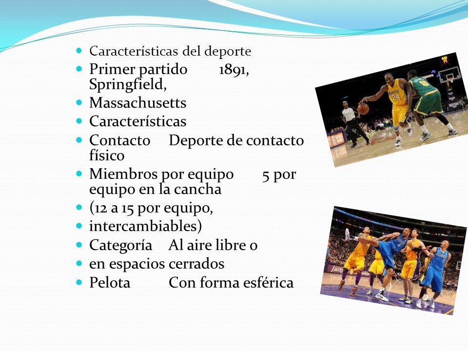 El basquetbol El baloncesto nació como una respuesta a la necesidad de realizar alguna actividad deportiva durante el invierno, la escuela de YMCA en