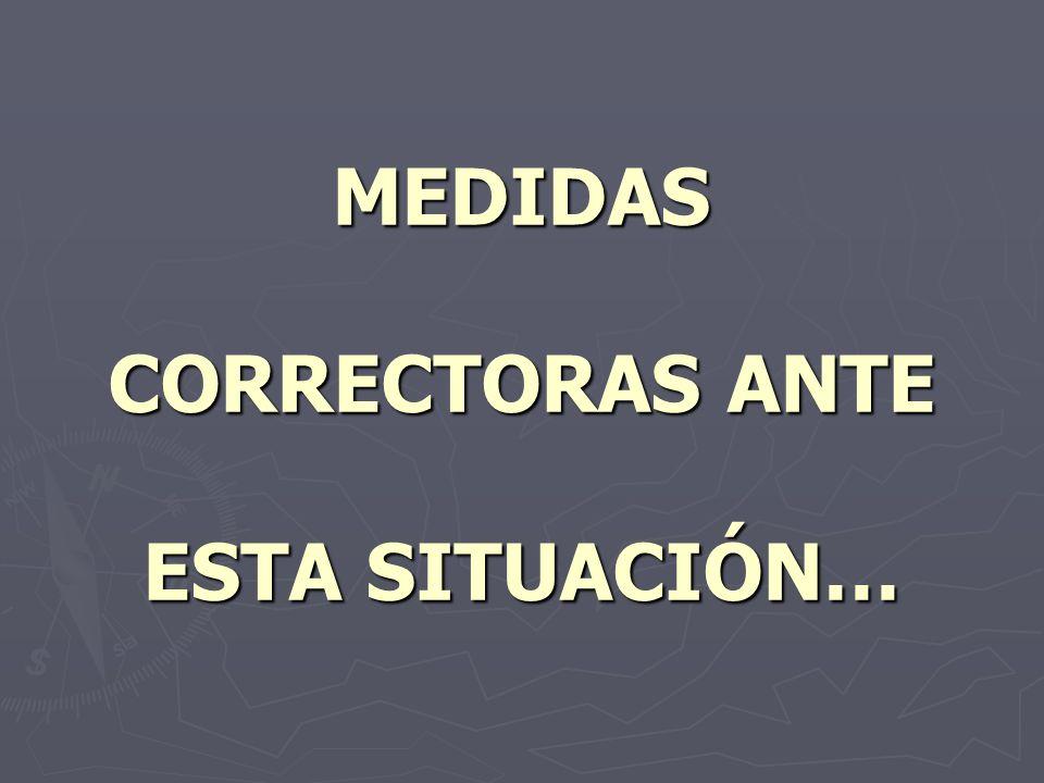MEDIDAS CORRECTORAS ANTE ESTA SITUACIÓN…