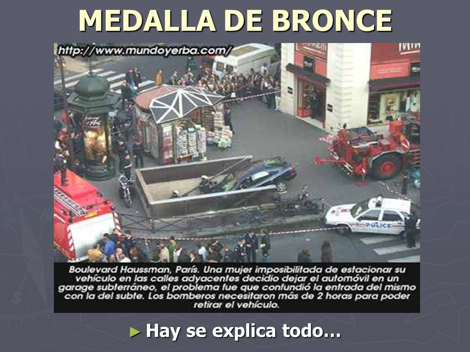 MEDALLA DE BRONCE Hay se explica todo…
