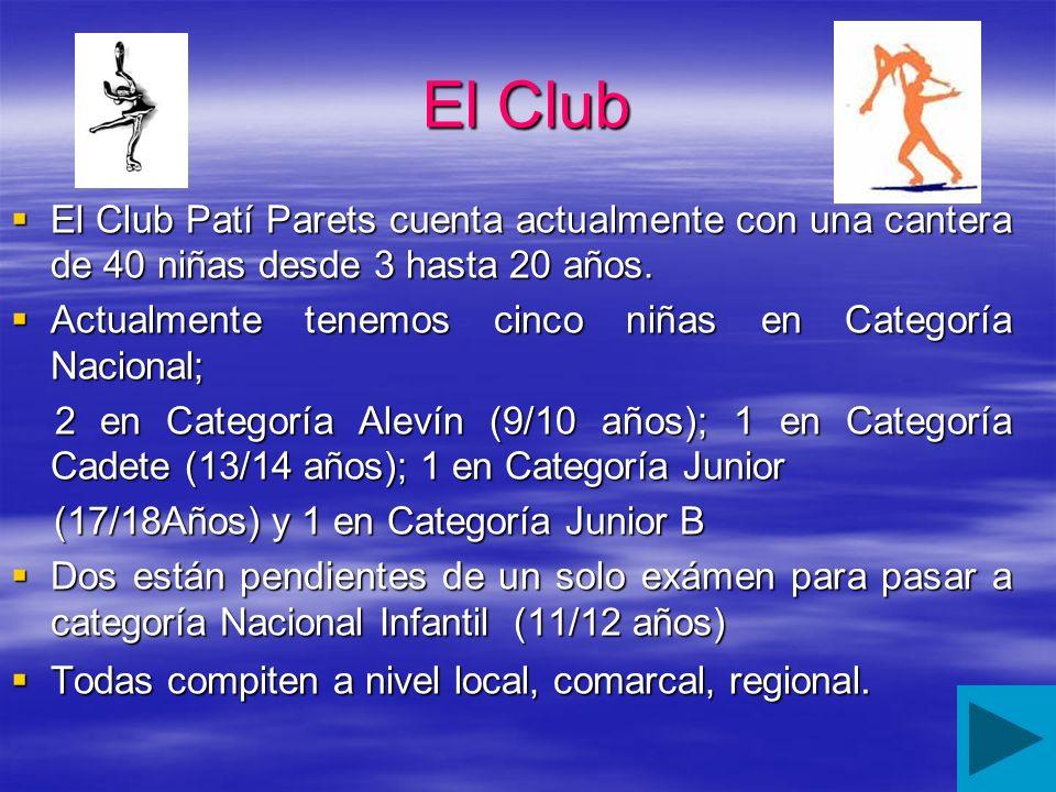 El Club El Club Patí Parets cuenta actualmente con una cantera de 40 niñas desde 3 hasta 20 años. El Club Patí Parets cuenta actualmente con una cante