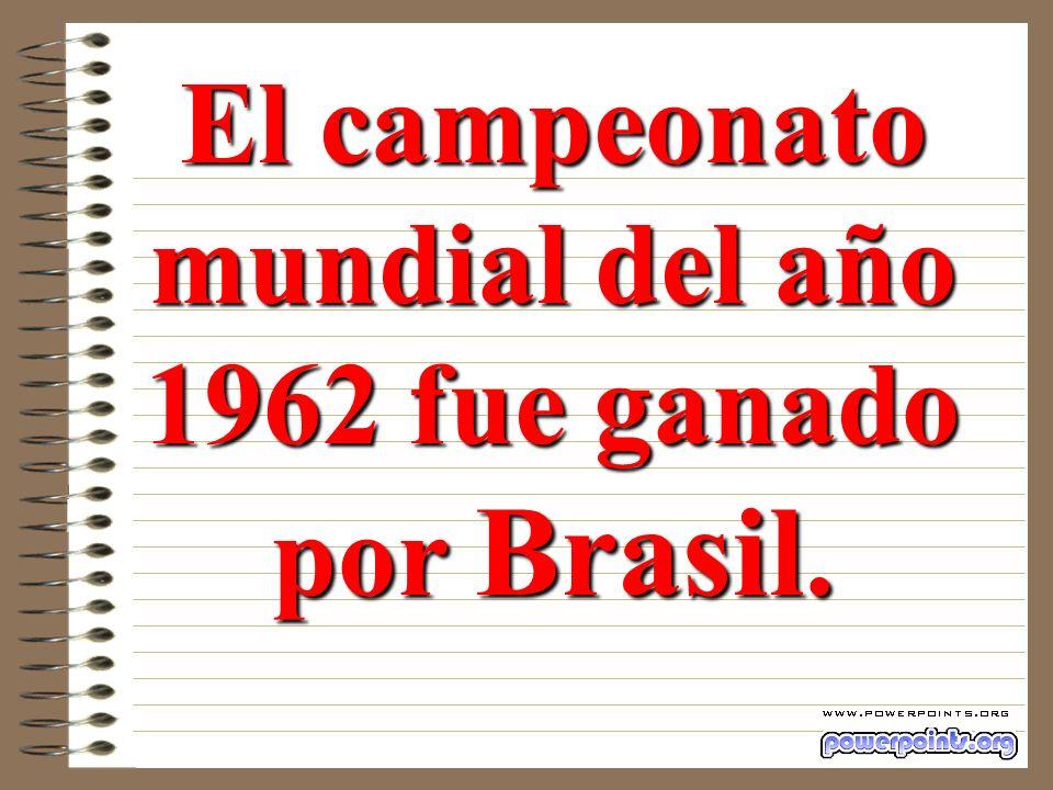 Tenía que ser el mismo ganador que el del mundial del año 1962 (Resta 3964 - 2002 = 1962).