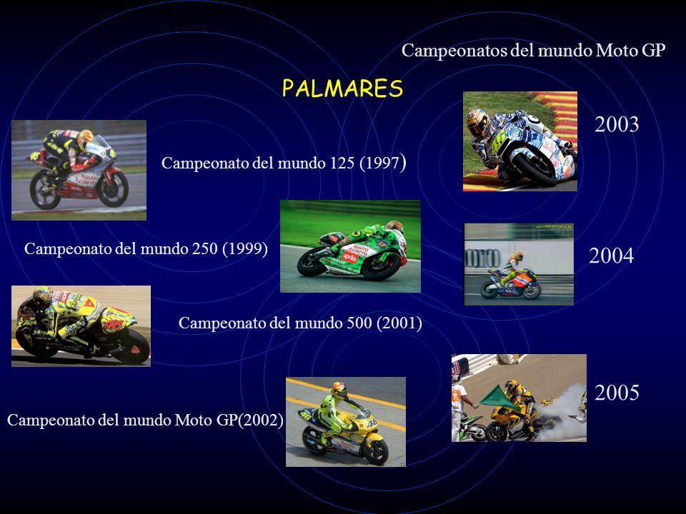 PALMARES Campeonato del mundo 125 (1997 ) Campeonato del mundo 250 (1999) Campeonato del mundo 500 (2001) Campeonato del mundo Moto GP(2002) Campeonatos del mundo Moto GP 2003 2004 2005